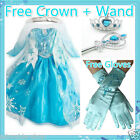Kids Elsa Anna Easter School Birthday Party Costume Dresses SIZE 3 4 5 6 7 8Y