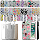 """For Apple iPhone 8 Plus iPhone 7 Plus 5.5"""" Sparkling Silver TPU Case Cover + Pen"""