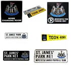 NEWCASTLE Metal SIGNS (Metal Door Sign, Street Sign)Official Club Merchandise