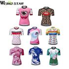 WEIMOSTAR Pro Women's Cycling Jerseys Tops Short Sleeve Bike Clothing Breathable