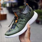 Mens Breathable camouflage lace-up Sneakers Casual Mesh Running Canvas shoes YH