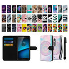 For Motorola Droid MAXX 2 XT1565 2nd Ultra Slim Canvas Wallet Case Cover + Pen