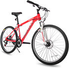 "Merax 26"" Dual Disc Brakes 21 Speed Hardtail Mountain Bike Men And Women's Bike"