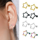 STAINLESS STEEL STAR EAR TRAGUS CARTILAGE HELIX STUD EARRING BODY PIERCING ACTUR