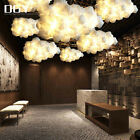 Child Room Gifts Led Floating Cloud Pendant Lamp Cotton Silk Chandelier Stylish