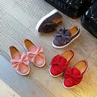 Toddler Kids Children's Shoes Girls Suede Shoes Bow-knot Sneakers Casual Shoes