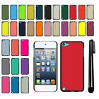 For Apple iPod Touch 5 5th/ 6 6th Gen Color Slim Fit Hard Back Cover Case + Pen