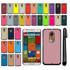 For Motorola Moto X 2nd Gen 2014 Solid Color Slim Fit Hard Back Cover Case + Pen