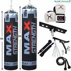 Boxing Set 5',6' Heavy filled Punch Bag, Skipping Rope, Gloves, Ceiling Hook Kit