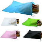 10Pcs Portable Non-woven Shoes Bag Travel Storage Pouch Drawstring Dustproof UK