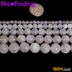 Natural Blue Fire Flash Rainbow Moonstone AAA Stone Beads For Jewelry Making 15""
