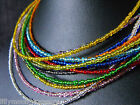 "Ethnic Wicca Glass beaded collar choker necklace RAINBOW unisex 15-17"" red blue"