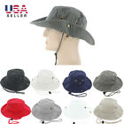 Boonie Bucket Hat Cap 100 Cotton Fishing Hunting Safari Summer Military Men Sun