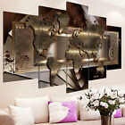 5Panel Canvas Print Modern Picture Wall Art Decor Home Abstract World Map Framed