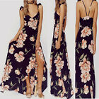 New Womens Maxi Boho Floral Summer Beach Long Skirt Evening Cocktail Party Dress