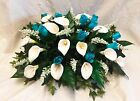 Large Table Centerpiece ~ MANY COLORS ~ Wedding Silk Flowers Calla Lilies Roses