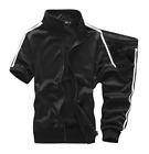 hot Men Womens T shirt Tee Top TrackSuit Zip Jogging Sport Set Mid-Pants Jacket