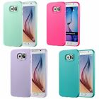 Soft TPU Rubber Gel Skin Cover Back Case For Samsung Galaxy S6 Hot Pink Lavender