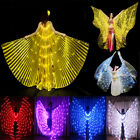 rechargeable LED isis wings lights belly dance glow show cosplay include sticks