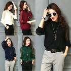 US Fashion Women's Summer Loose Top Long Sleeve Blouse Casual Tops T-shirt