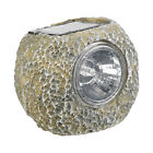 2 x Solar Powered LED Lights Garden Deco Rocks Patio Path Driveway Border Lamps