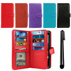 For HTC Desire 526 All-In-One Premium Leather Wallet Cover TPU Case + Pen