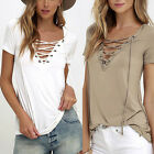 Fashion Womens Loose Pullover T Shirt Short Sleeve Cotton Tops Shirt Blouse