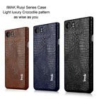 IMAK For Blackberry Keyone PU Leather Pattern Protective Back Case Cover OE