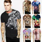 Men's Funny 3D Print Short Sleeve T-shirt Male Comfort O-neck T-shirts New*