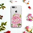Pink Flower DIY Print TPU Case Cover for Samsung S8 S7 Huawei iPhone 7 6 Plus 5s