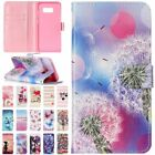 Painted Popular Wallet Card Flip PU Leather Case Cover For Samsung S8 J320 J720