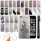 For Apple iPhone 6/ 6s 4.7 inch Ultra Thin Clear TPU Case Phone Cover + Pen