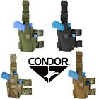 Condor TLH Tactical Anti-Slip Drop Leg Rig Pistol Holster w/ Magazine Mag Pouch