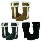 Michael Kors Womens Winter Tall Pull On Shearling Mid Calf Casual Warm Boots