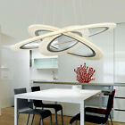 New ED Three Rings Chandelier Flat-Disk Ceiling Lights Bedroom Fixture Pendant