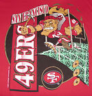 Vintage 1992 SF 49ers COLLEGE CONCEPTS T-Shirt *MAD MINER* Red NWT NEW OldStk LG