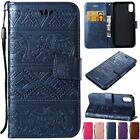 Shockproof Stent Flip PU Leather W/Strap Card Holder Case Cover For iPhone