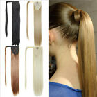 16'' Straight Magic Hair Wrap Human Hair Comb Ponytail Clip in Hair Extensions