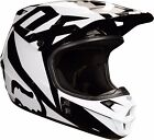 Fox Racing ADULT V1 Race Helmet Black MX ATV Moto Enduro Off Road 19531-001