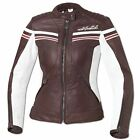 %SALE% Held 5425 Fashionable Ladies Leather Jacket Biker Retro Jolin Brown-White