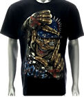 d31 Rock Chang 3D T-shirt Tattoo STUD RIVET Skull Ghost Punk Street Gangster Tee