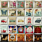 Retro Vintage Cotton Linen Car Throw Pillow Case Cushion Cover Sofa Home Decor image