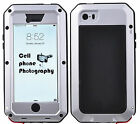 Aluminum Metal Shockproof Waterproof Gorilla Glass Case Cover for iPhone&Samsung