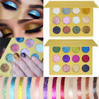 12 Colors Diamond Glitter Rainbow EyeShadows MakeUp Cosmetic Eye Shadow Palette