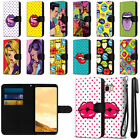For Samsung Galaxy S8+ Plus G955 Pop Art Design Canvas Wallet Case Cover + Pen