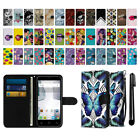 For Alcatel Dawn 5027 Ideal 4060A Canvas Wallet Pouch Case Cover + Pen
