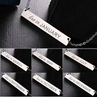 New Stainless Steel Letter Various Months Necklace Chain Jewelry Family Friendly