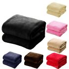 "Soft Micro plush Flannel Fleece Throw Blanket New 50""x 60"" All Colors image"