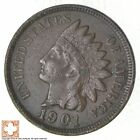 SHARP - 1901 - Indian Head Cent - Great Detail in Liberty - Tough Grade *246