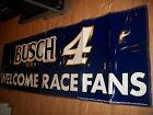 Busch 10 X 3 Navy blue vinyl banner sign Nascar 4 Kevin Harvick race beer bar